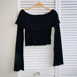 Black Boutique Off The Should Sweater